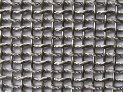 Decorative wire mesh for fireplace screen or carpet a rope mesh is crossed with a rod teraionfo