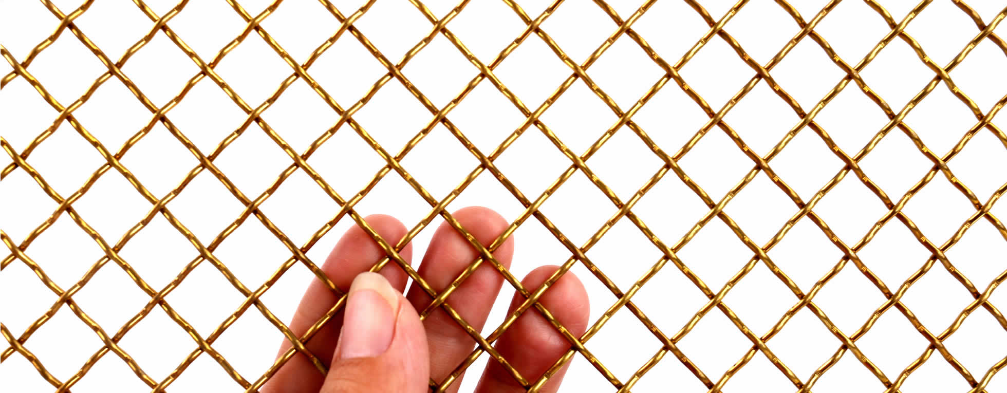 Brass mesh and copper for decorative