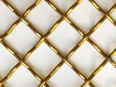 This is a piece of brass intermediate crimped wire mesh.