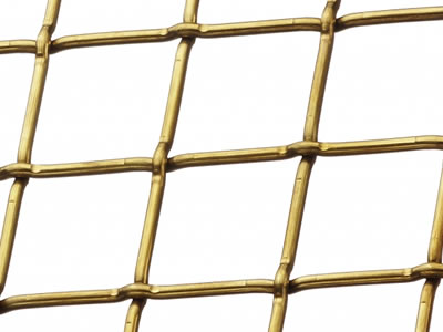 This is the picture of brass lock crimped wire mesh.