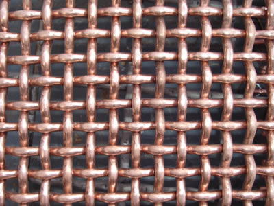 This is the picture of copper double crimped wire mesh.