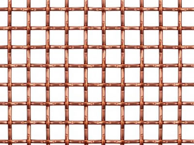 This is the picture of copper lock crimped wire mesh.
