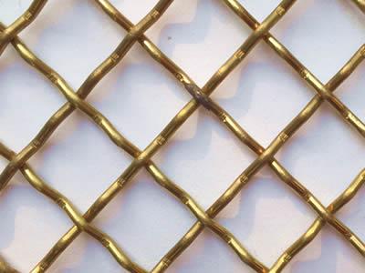 Brass Decorative Mesh Gives Buildings Elegant and Luxury Sense