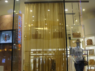 Brass Copper Metal Mesh Curtain For Space Divider