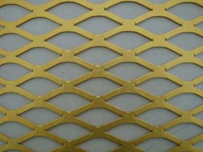 Brass Copper Expanded Mesh With Different Opening Shape
