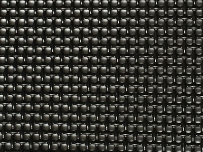 A piece of black coated stainless steel 304 security mesh for window screen.